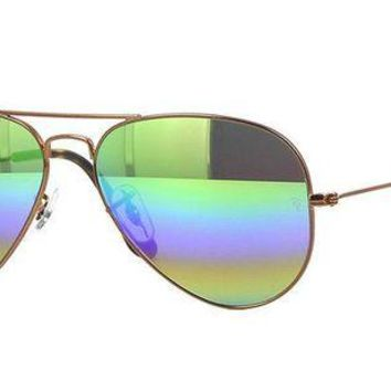 Gotopfashion Sunglasses Ray-Ban RB3025 AVIATOR 9018C3 BRONZE/MIRROR RAINBOW