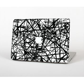 "The Black and White Shards Skin Set for the Apple MacBook Pro 15"" with Retina Display"