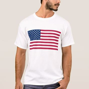 T Shirt with Flag of the USA