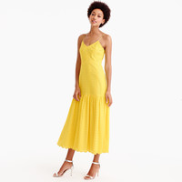 Tiered spaghetti-strap midi dress in eyelet : Women ready-to-party collection | J.Crew