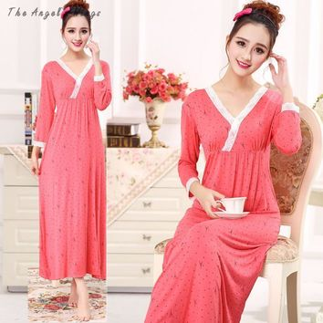 Womens dresses princess For bust 96-118cm  Long  Nightgown vintage nightgowns woman night sleepwear batas de dormir 629-D