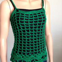 Crochet Green Summer Tunic.