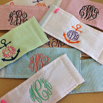 Monogrammed Koozie by LittleCharmsDesigns on Etsy