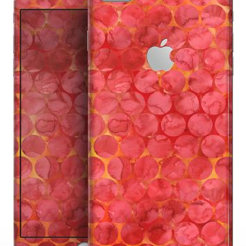 Red Sorted Large Watercolor Polka Dots - Skin-kit for the iPhone 8 or 8 Plus