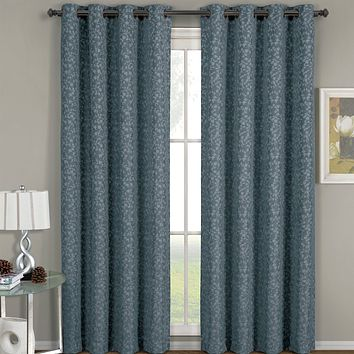 Fiorela Jacquard Grommet Top Curtain Panel (each)