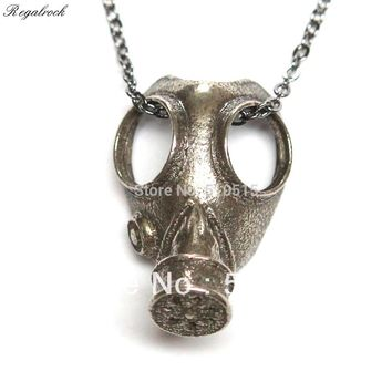 Regalrock Doctor Who Anti-silver Steampunk Oddities Apocalypse Gas Mask Pendant Necklace
