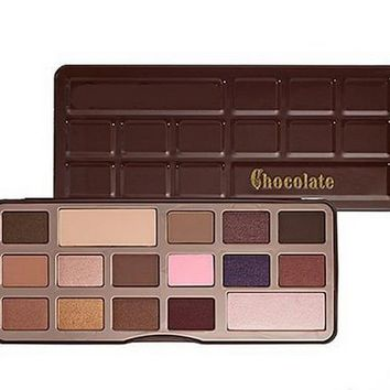Eye Makeup Too fac chocolate Peaches Sweet 18 Color Eyeshadow Palette chocolate Bar Make up Bon Bons Eyeshadow Palette