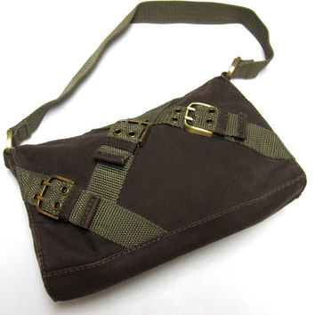 Camo Green Brown Purse Nine West Buckle Bag