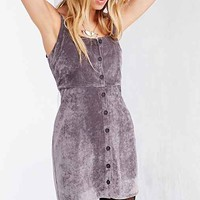 Cooperative Brushed Corduroy Button-Front Babydoll Dress-