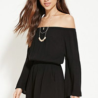 Gauze Scoop-Back Romper