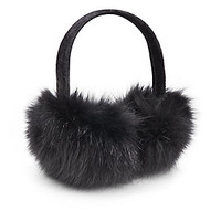 Saks Fifth Avenue BLACK - Dyed Rabbit Fur Earmuffs