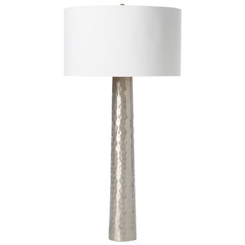 Hammered Table Lamp | Silver