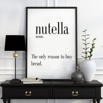 Definition of Nutela Funny wall art Typography Print Funny Poster Name Definition Art Minimalist Art Art Print Instant Download Print ART