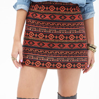 Geo Stripe Mini Skirt