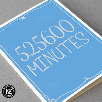 525600 Minutes - Rent: Seasons of Love Lyrics Inspired Anniversary Card -  5 X 7 Inches