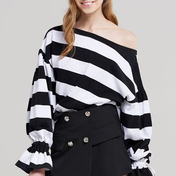 Dorothy Candy Stripe Tie Top Discover the latest fashion trends online at storets.com