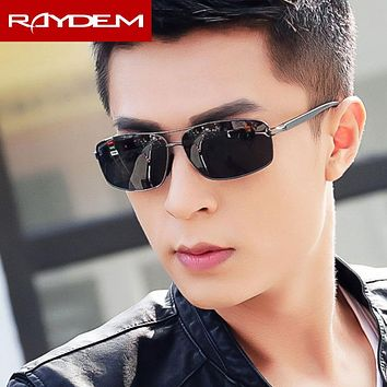 2018 Raydem Polarized Men's Vintage Sunglasses Aluminum magnesium Rectangle frame Sun Glasses Goggle Drivers Male Eyeglasses