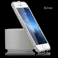 Silver Metal Stone Bumper iPhone 7 Cases ,7,7+