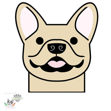 French bulldog car vinyl decal sticker - Frenchie silhouette - YOU CHOOSE breed