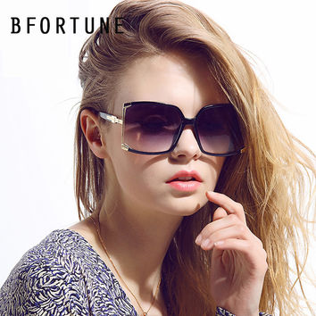 BFORTUNE 2016 New Fashion Big Frame Square Sunglasses Women Brand Designer Vintage UV400 Oculos De Sol Feminino Gafas Mujer