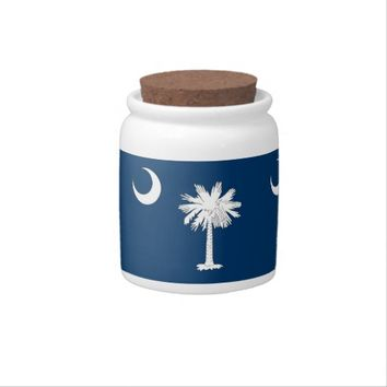South Carolina State Flag Candy Jar