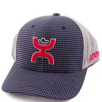 "Hooey Men's ""Web"" Cap - NAVY/GRAY with Logo FLEX FIT getyourhooey"