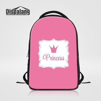 Cool Backpack school Dispalang Large Capacity Women Laptop Backpacks Cool Rucksack for College Student Princess Crown Prints Travel Daily Bagpack AT_52_3