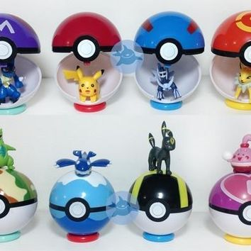 Pokemon Anime Figures Pokeball Fairy Ball Toy Gift with Pokemon Figure [9305867079]