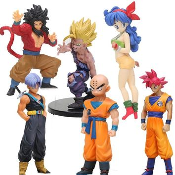 Anime DragonBall styling child goku Trunks Vegeta lunchi 1/8 scale Dragon Ball Z Action Figure PVC Collectible Model Toys