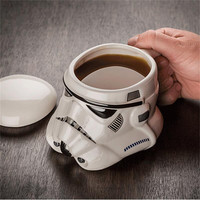 Coffee Mug Star War Darth Vader 3D Ceramic Tea Cup Travel Drink Cup Funny Coffee Mug Set White