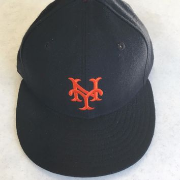 RETRO NEW ERA NEW YORK GIANTS BASEBALL BLACK FLAT BRIM FITTED HAT