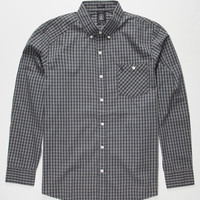 Volcom Everett Minicheck Mens Shirt Navy  In Sizes