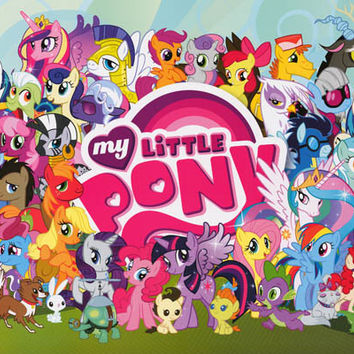 My Little Pony Cartoon Cast Poster 24x36