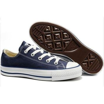 """Converse"" Fashion Casual Canvas Flats Sneakers Sport Shoes Dark Blue G"
