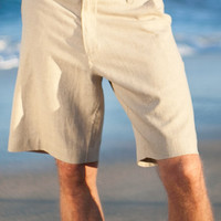Maui Shorts - Men's Linen Short, Button Closure, Zip-Fly, Drawstring - Island Importer