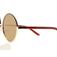 Quay Cara Gold Sunglasses, Gold Lenses