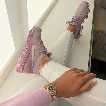 Nike Air VaporMax Flyknit Trending Women Stylish Sport Running Shoes Sneakers Purple I/A