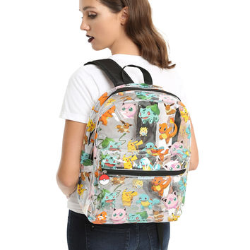 Pokemon Tossed Print Clear Backpack