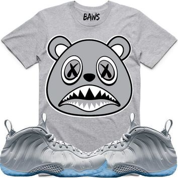 SHADOW BAWS Athletic Ash Grey Sneaker Tees Shirt - Wolf Grey Foamposites dff36d386
