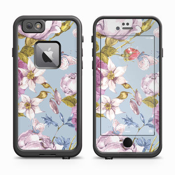 Rose and Carnation Sky Blue Skin for the Apple iPhone LifeProof Fre Case