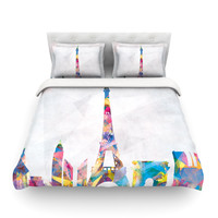 "Mareike Boehmer ""Paris"" Twin Cotton Duvet Cover - Outlet Item"
