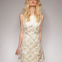 Jane gold brocade dress [Spp1566] - $52 : Pixie Market, Fashion-Super-Market