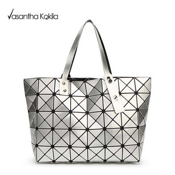 2017 Fashion Bao Bao Bag Women Tote Fold summer issey miyak Baobao Hand Bag Laser Geometric Designer Handbags High Quality TN141