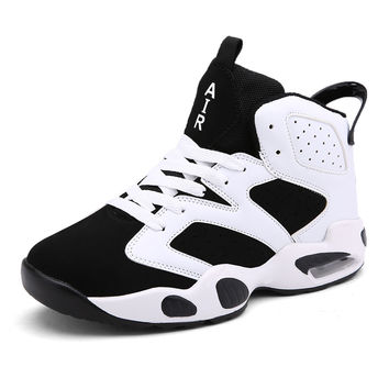 Plus Size 36-45 Brand Designer Men Casual Jordan Retro Shoes Air Cushion High Top Walking Basket Shoes Mans Footwear Zapatillas