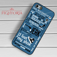 Sam Winchester Supernatural - zFzF for  iPhone 4/4S/5/5S/5C/6/6+s,Samsung S3/S4/S5/S6 Regular/S6 Edge,Samsung Note 3/4