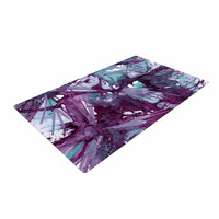 "Ebi Emporium ""Birds of Prey - Aqua Purple"" Blue Lavender Woven Area Rug"