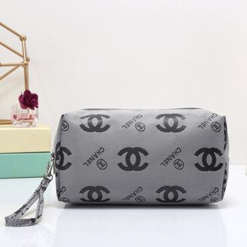 Chanel Women Leather Zipper Wallet Purse