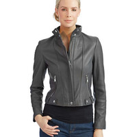 Calvin Klein Leather Moto Jacket