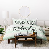 Wesley Bird Locals Only Duvet Cover