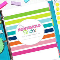30% OFF Household Binder Printable Planner, Home Management - INSTANT DOWNLOAD - Home Management, Homekeeping, Finance, Cleaning, To Do